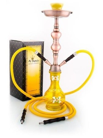 SINGLE DAISY YELLOW 2Hoses Hookah Shisha Water Pipe Alpapcio 53